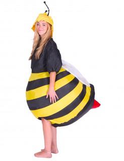 Aufblasbares Bienenkostüm für Erwachsene gelb-schwarz