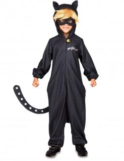 Cat Noir™-Kinderkostüm Miraculous™-Lizenzkostüm schwarz