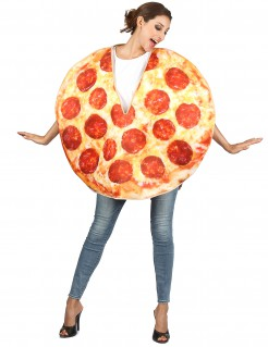 Pizza-Kostüm Lebensmittel-Kostüm gelb-rot