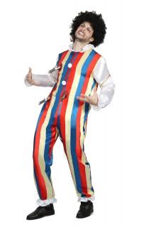 Gruseliger Zirkusclown Horrorclown-Kostüm bunt