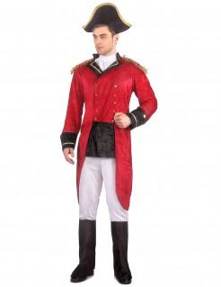 Historisches Napoleon-Kostuem für Herren rot-weiss-schwarz