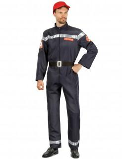 Feuerwehrmann-Kostüm Feuerwehr-Herrenkostüm dunkelblau