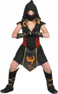 Ninja-Kostüm für Kinder schwarz
