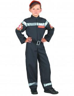 Feuerwehrmann-Kostüm für Jungen dunkelblau