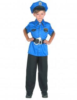 Polizei-Kostüm für Kinder schwarz-blau
