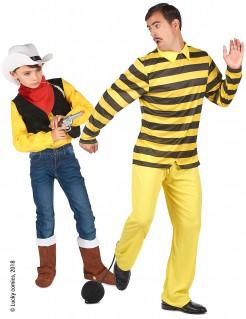 Dalton & Lucky Luke™-Paarkostüm für Vater und Sohn gelb-bunt