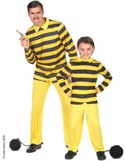 Dalton Brüder-Paarkostüm für Erwachsene und Kinder Lucky Luke™-Kostüm gelb-schwarz