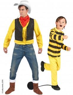 Lucky Luke & Dalton Paarkostüm für Vater und Sohn gelb-bunt