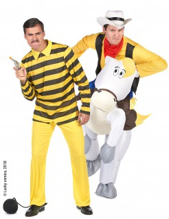 Lucky Luke & Dalton Paarkostüm für Erwachsene gelb-bunt
