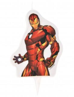 Iron Man™-Geburtstagskerze Avengers™ rot 6x7,3cm