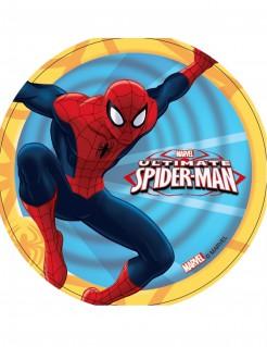 Klassischer Spiderman™-Tortenaufleger Marvel-Lizenzartikel blau-rot-bunt 14,5cm