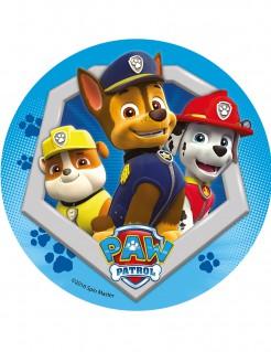 Paw Patrol™-Tortenaufleger Chase Rubble und Marshall bunt 21cm