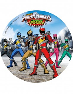 Geschmackvoller Power Rangers™-Tortenaufleger Lizenzartikel bunt 21cm