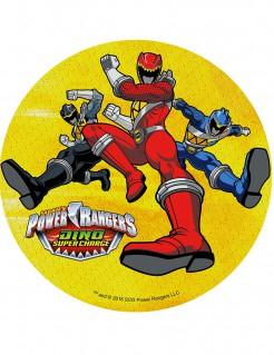 Süßer Power Rangers™-Tortenaufleger Lizenzartikel gelb-bunt 21cm