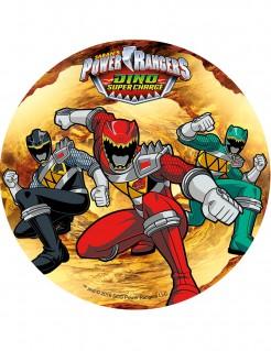 Power Rangers™-Tortenaufleger Lizenzartikel bunt 21cm