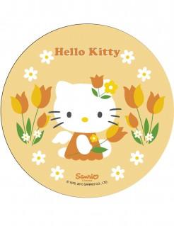 Hello Kitty™-Tortenaufleger Lizenzartikel Blumenwiese bunt 21cm