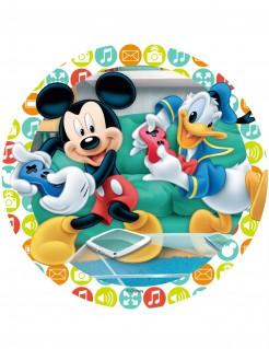 Micky Maus und Donald Duck™-Tortenaufleger Spielekonsole bunt 21cm
