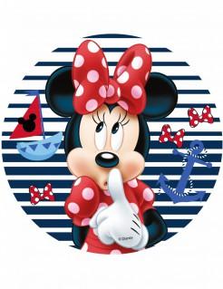 Minnie Maus™-Tortenaufleger Strand-Motiv mit Anker rot-blau 21cm
