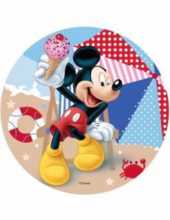 Micky Maus™-Tortenaufleger Micky am Strand Lizenzartikel bunt 21cm