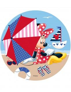 Minnie Maus™-Tortenaufleger Lizenzartikel Strand-Motiv bunt 21cm