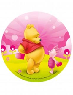 Winnie Puuh™-Tortenaufleger Lizenzartikel Puuh Ferkel rosa-bunt