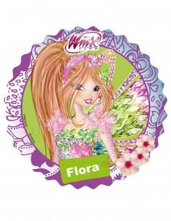 Winx™-Zuckerplatte Flora violett 21cm