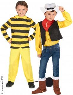 Lucky Luke™ und Dalton Paarkostüm für Kinder bunt