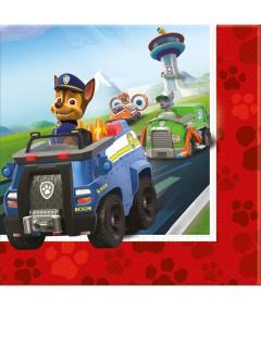 Paw Patrol™-Papierservietten Polizeiwagen 20 Stück bunt 33x33cm