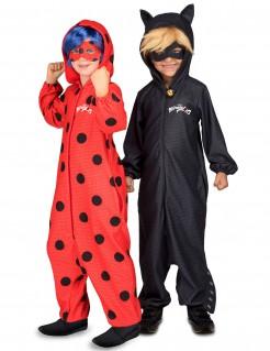 Miraculous™ Kinder-Paarkostüm Ladybug™ Cat Noir™ schwarz-rot