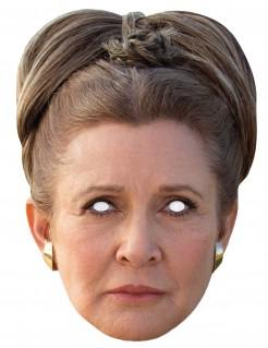 Prinzessin Leia-Pappmaske Star Wars™-Lizenzmaske beige-braun