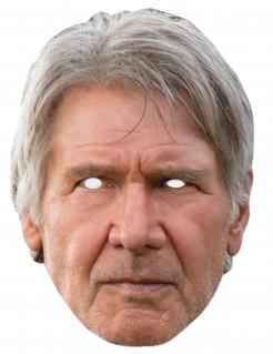 Han Solo-Pappmaske Star Wars™-Lizenzmaske hautfarben-grau