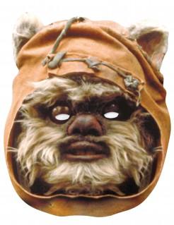 Ewok-Pappmaske Star Wars™-Lizenzmaske braun