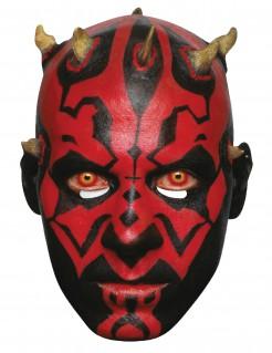 Darth Maul-Pappmaske Star Wars™-Lizenzmaske rot-schwarz