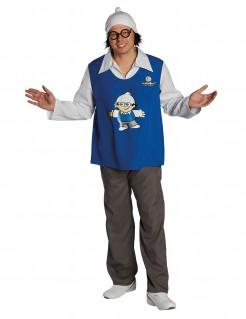 Mainzelmännchen™ Det Kostüm für Erwachsene blau-grau-weiss