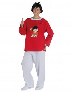 Mainzelmännchen™ Fritzchen Kostüm für Erwachsene rot-weiss