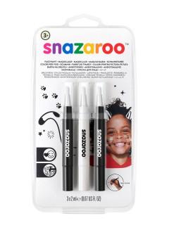 Snazaroo™-Schminkstifte 3 Stück schwarz-weiss 6ml