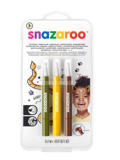 Snazaroo™-Schminkstifte 3 Stück grün-gelb-braun 6ml