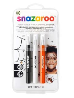 Schminkstifte Halloween-Makeup Snazaroo™ 3-teilig orange-schwarz-weiss