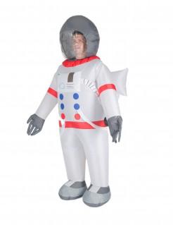 Aufblasbares Astronauten-Kostüm weiss