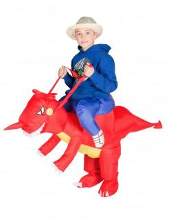 Aufblasbarer Drache Carry-Me-Kinderkostüm rot