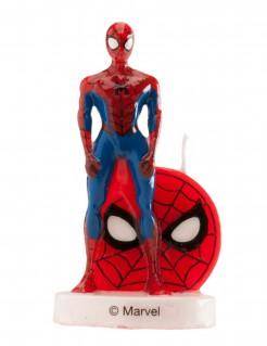 Spiderman™-Kuchendeko mit Kerze Marvel™-Lizenzartikel rot-blau 6cm