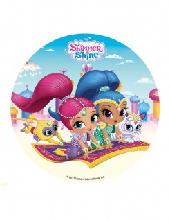 Shimmer and Shine™-Tortenaufleger Oblate bunt 16cm