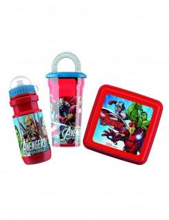 Avengers™-Brotdose mit Trinkflaschen Lizenzartikel 3-teilig bunt
