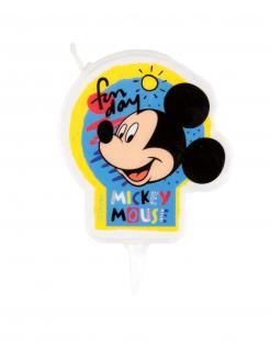 Mickey Maus™-Geburtstagskerze Partydeko bunt 7,5cm