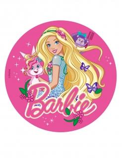 Barbie™-Tortenaufleger Kuchendeko Lizenzartikel rosa-bunt 20cm