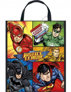 Justice League™-Tragetasche Superhelden bunt 33x28cm