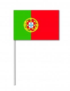 Portugal-Fahne Fanartikel grün-rot 14x21cm