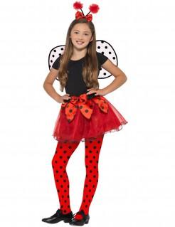 Marienkäfer-Kostüm für Kinder Karneval rot-schwarz