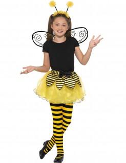 Süsse Biene Mädchenkostüm gelb-schwarz