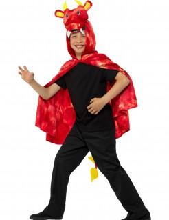 Drachen-Umhang für Kinder Accessoire rot-gelb